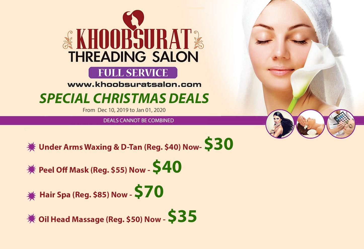 Khoobsurat Salon Christmas Deals Specials 2019