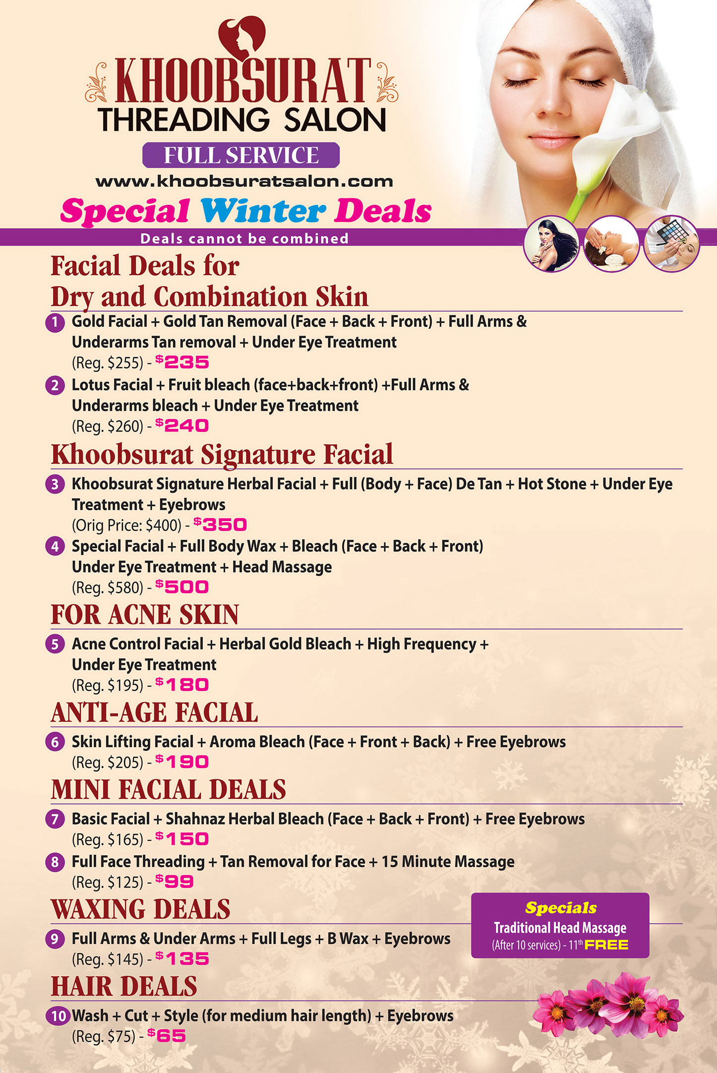 Khoobsurat Salon Winter Deals Specials 2018