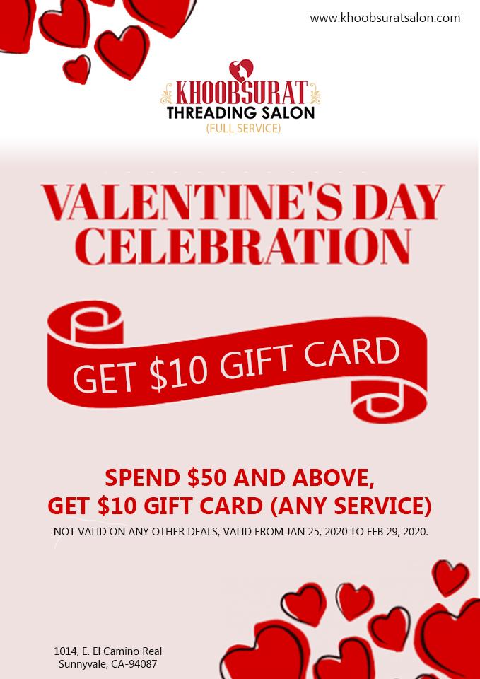 Khoobsurat Salon Valentines Day Deals Specials 2020